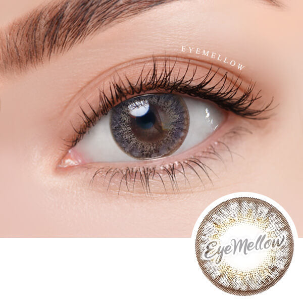 [1+1] Happy Holi Gray Colored Contact Lenses - Silicone Hydrogel