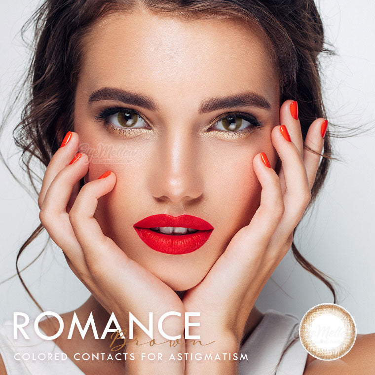 Romance Brown Colored Contact Lenses (Hyperopia)