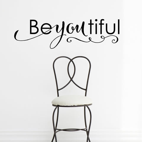'Beyoutiful' Quote Wall Sticker
