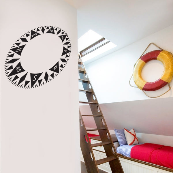 Nautical Compass Wall Sticker Decal