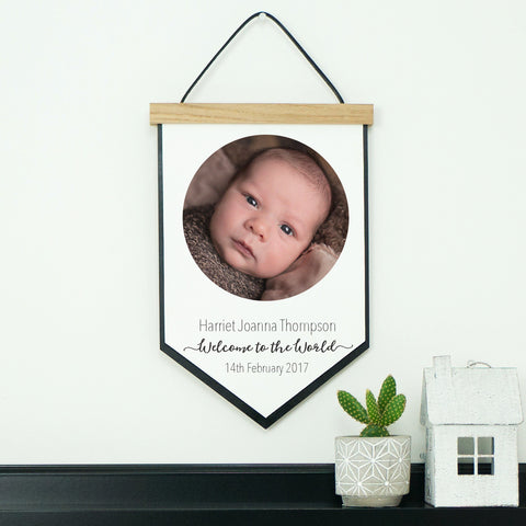 New Baby Personalised Keepsake Gift Hanging Wall Decor