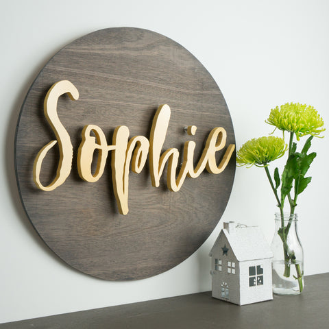 Personalised 3D Wooden Name Sign
