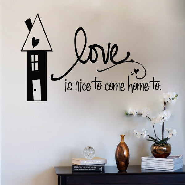 'Love Is Nice To Come Home To' Wall Sticker