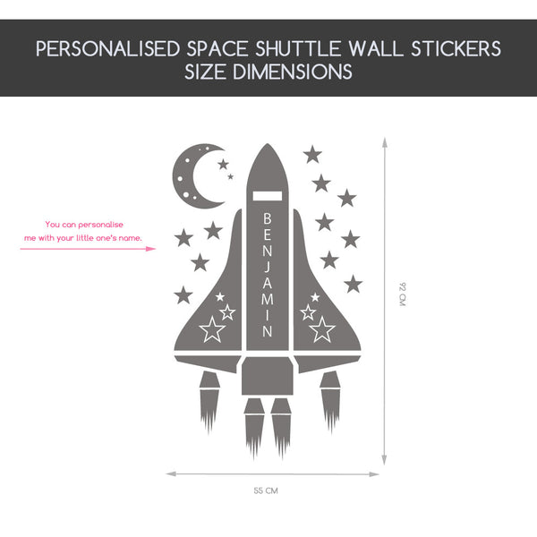 Personalised Space Shuttle Wall Stickers