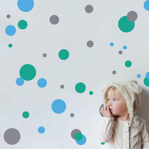Coloured Polka Dot Wall Stickers