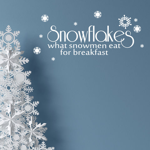 'Snowflakes - What Snowmen Eat' Wall Sticker