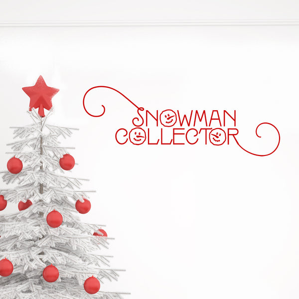 Snowman Collector Festive Wall Sticker