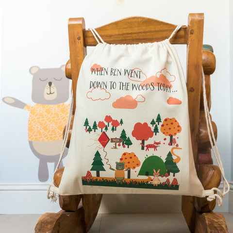 'If You Go Down To The Woods Today' Children's Gym Bag