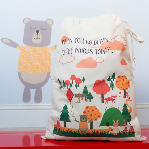 'If You Go Down To The Woods Today' Toy Storage Sack