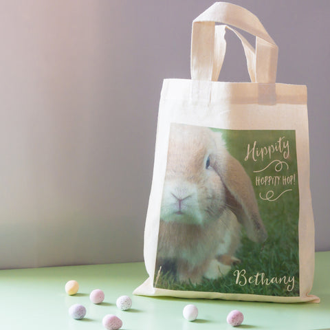 Personalised gift bags and sacks snuggledust studios personalised easter egg hunt gift bag negle Image collections
