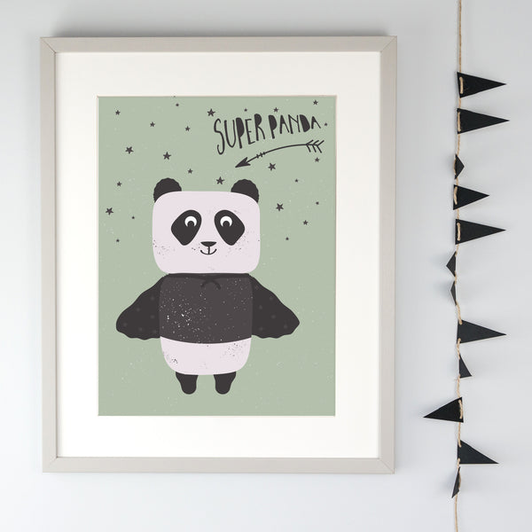 Super Panda Illustration Children's Print
