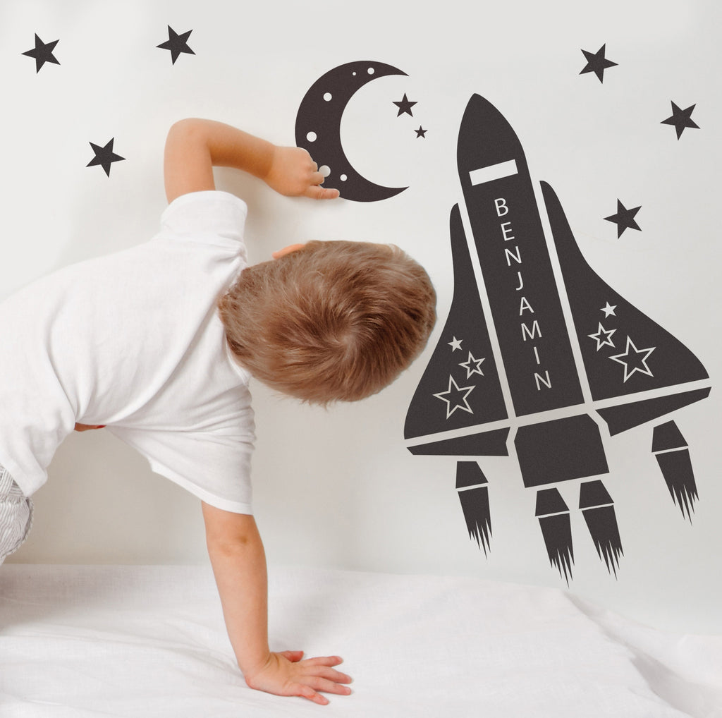 personalised space shuttle wall stickers kids houzz