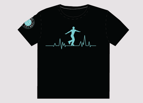 Dundee Open Adults T-Shirt - Male Ice Skater Design