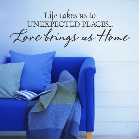 'Love Brings Us Home' Wall Sticker