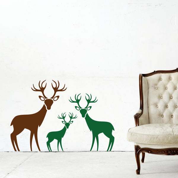 Woodland Deer Family Wall Sticker Decal
