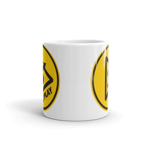 AT PLAY Signature White Glossy Mug