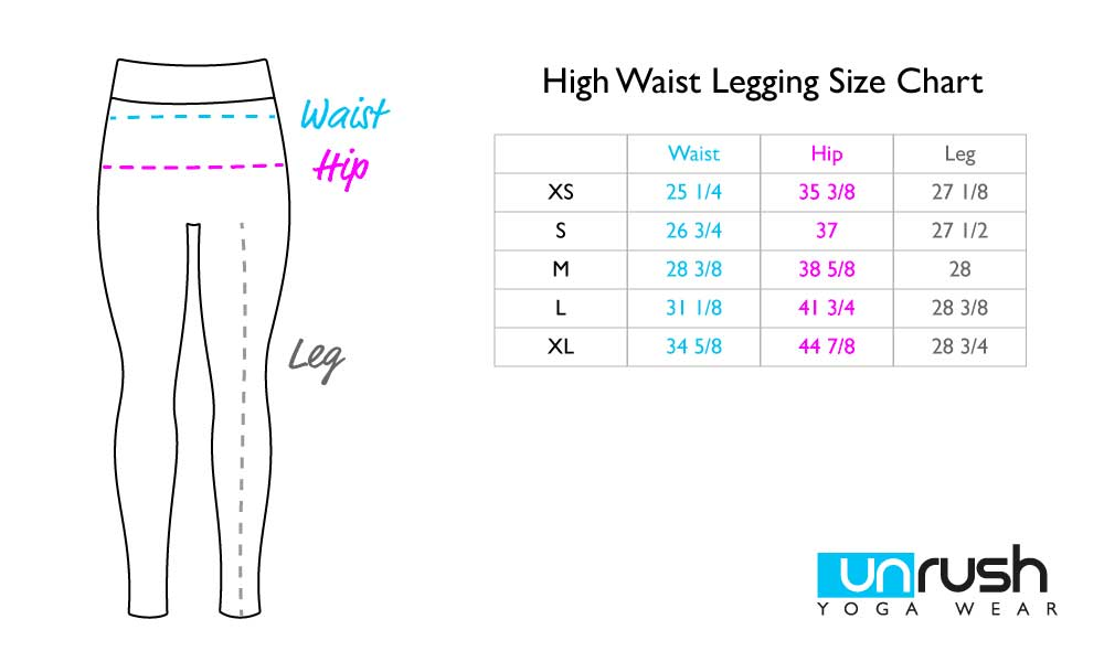 High Waist Legging Size Chart