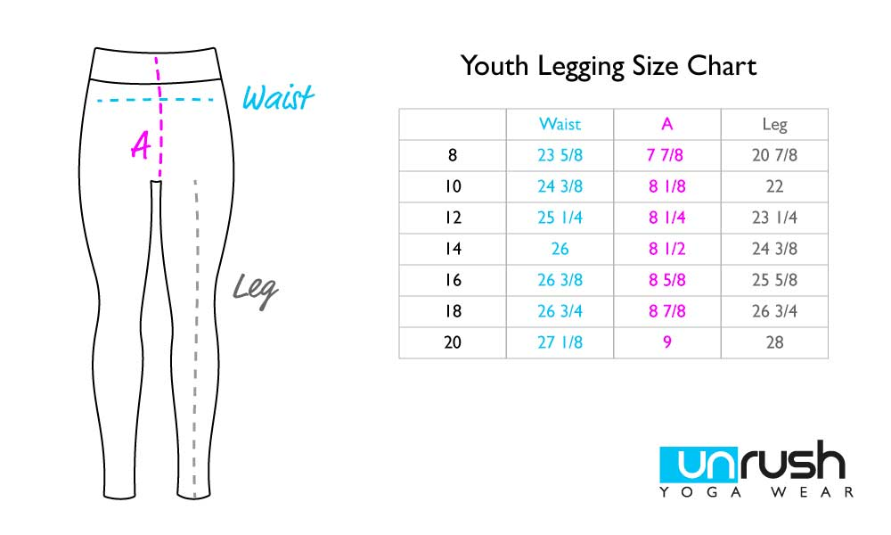 Youth Legging Size Chart