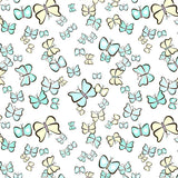 Valeria Butterfly,White, Kids Leggings