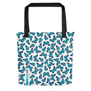 Monarch Blue Butterfly, Tote bag