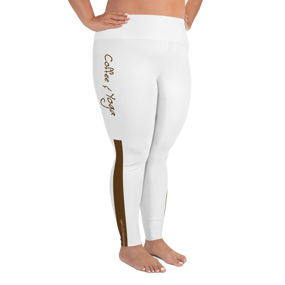 "Curvy Style Leggings ""Coffee & Yoga"" - Unrush"