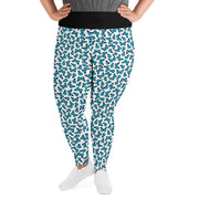 "Curvy Style Leggings, Monarch Butterfly ""Blue"" - Unrush"