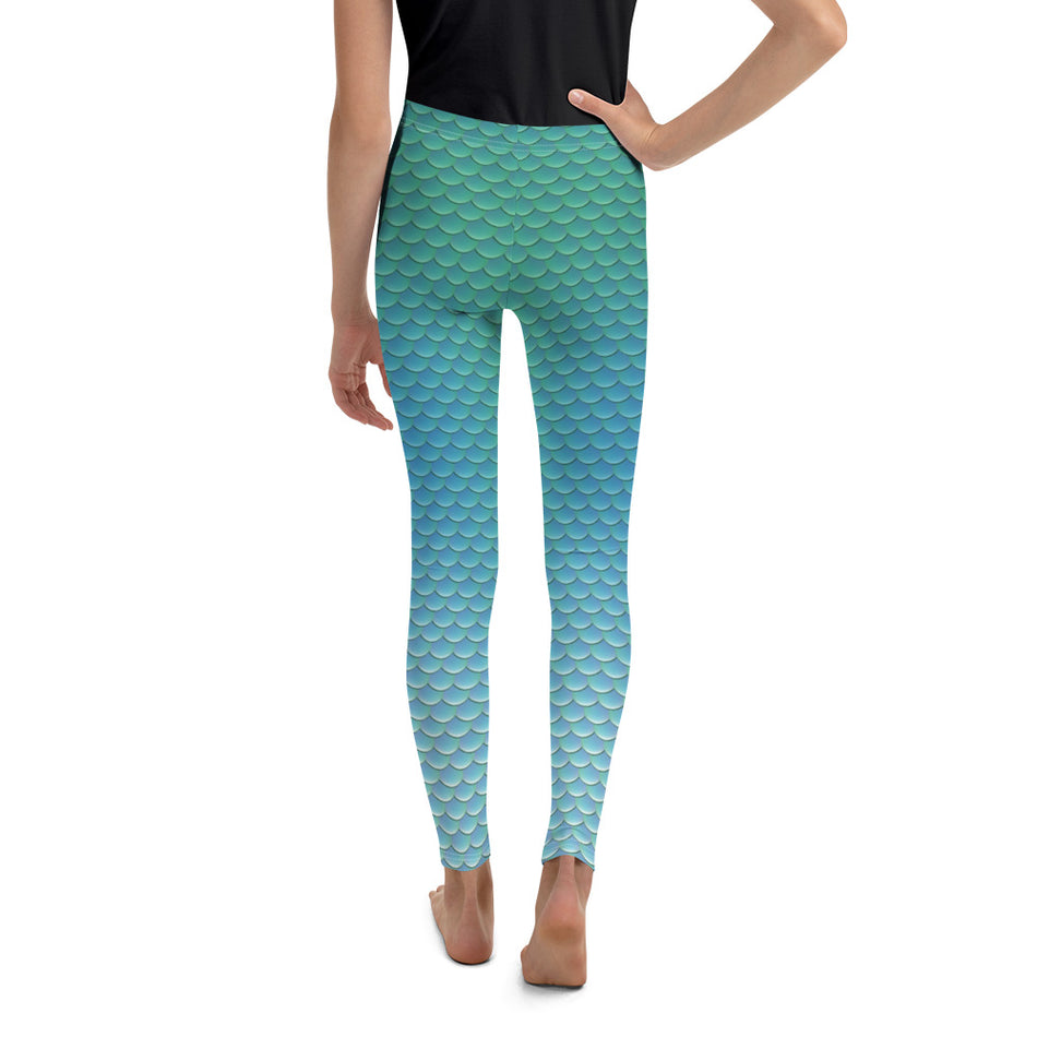 "Youth Leggings,""Mermaid"""
