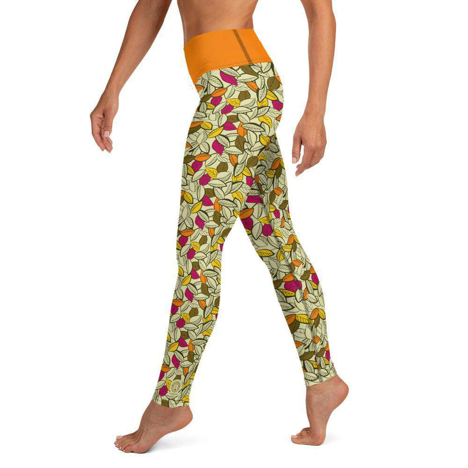 "High Waist Legging ""Colorful Leaves"" - Unrush"