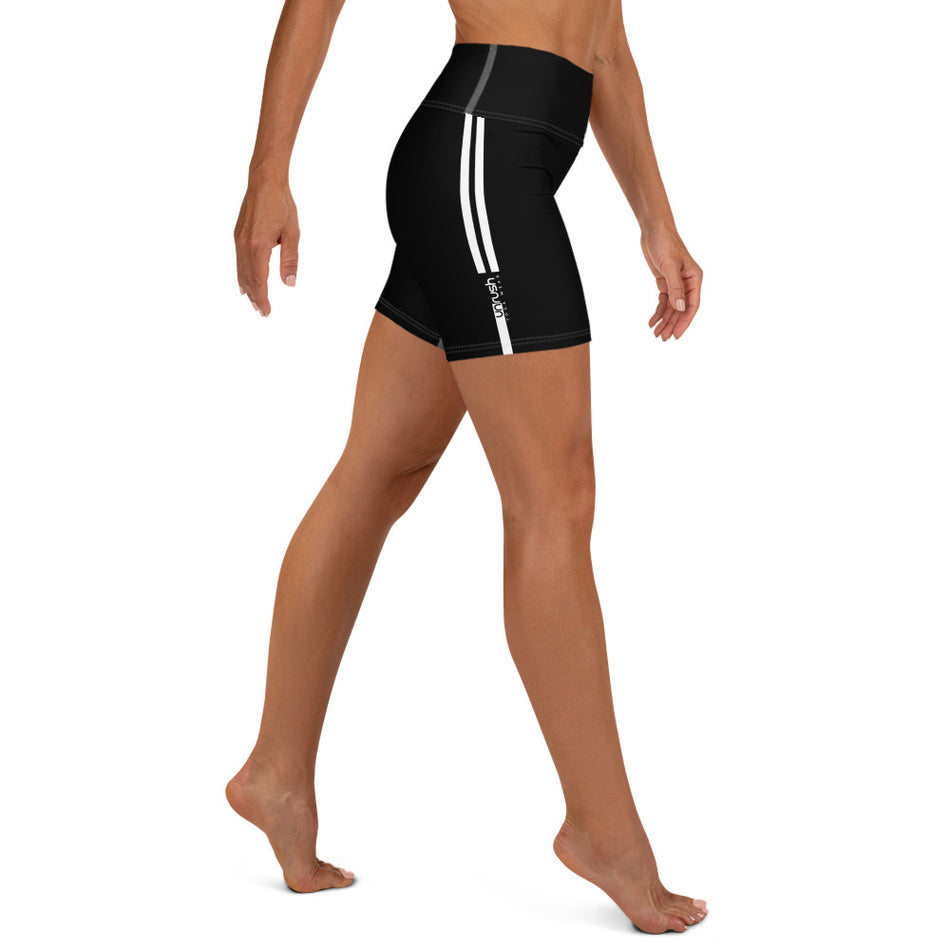 "Yoga Shorts, Unrush Basic ""Black & White stripes"" - Unrush"