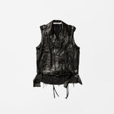 Midorikawa featuring T-BONE FLETCHER  Leather Rider's Vest