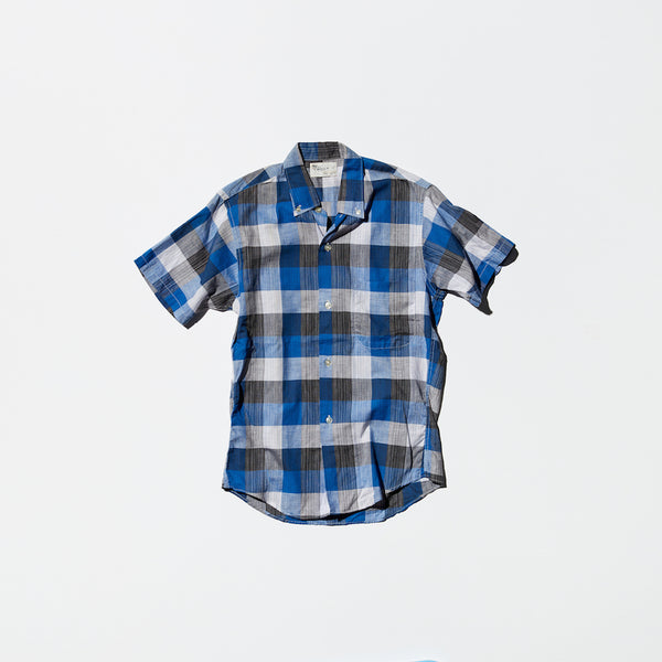 Vintage《Town Topic》Blue Checked Short Sleeve BD Shirt