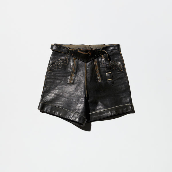 Vintage Leather Short Pants