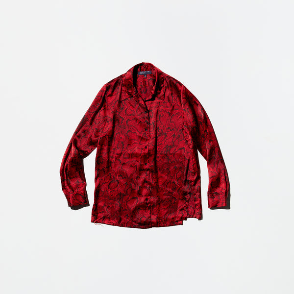Vintage《JONES NEW YORK》Red Python Shirt
