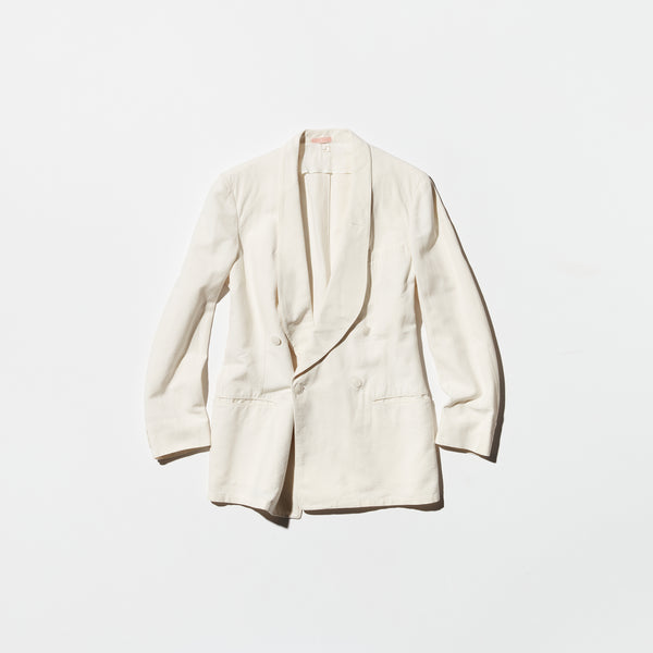 Vintage《Palm Beach Suit》30s White Double-breasted Jacket
