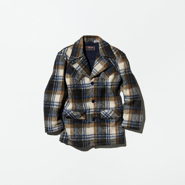 Vintage《Var Cassi》Plaid Wool Western Jacket