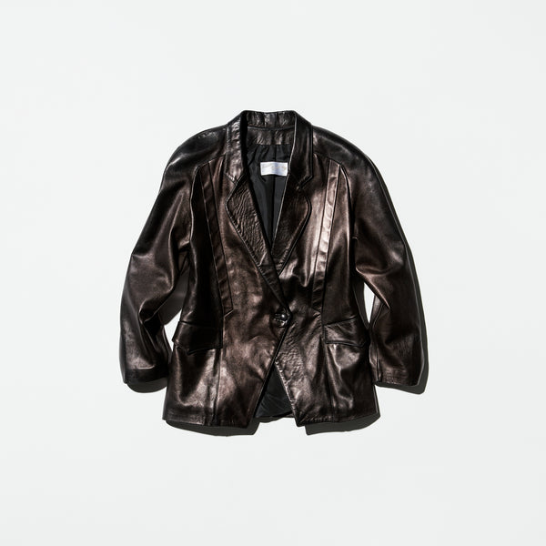 Vintage《Arlette Braun》Leather Tailored Jacket