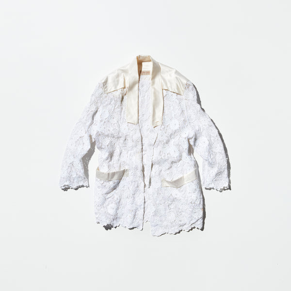 Vintage《LINA LEE》White Lace Jacket