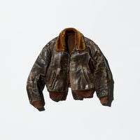 Vintage Boro Leather Flight Jacket