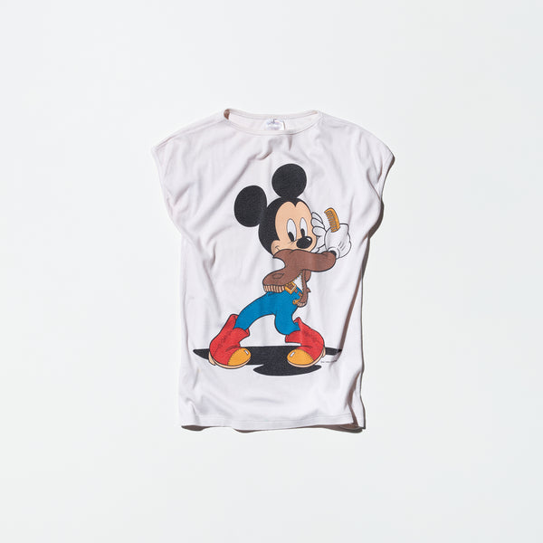 Vintage《WALT DISNEY PRODUCTION》Rockabilly Mickey Mouse No-sleeve T-shirt