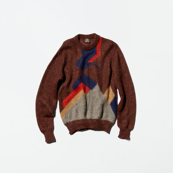 Vintage《OCBAJI》Geometric Sweater