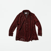 Vintage《EDINQ》Abstract Red Glitter Shirt