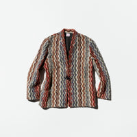 Vintage《graff》No-collar Knit Jacket