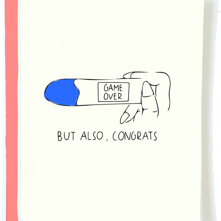 Game Over Pregnancy Card