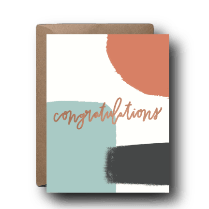 Muted Abstract Congratulations Greeting Card
