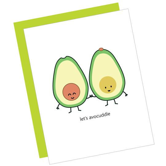 Let's Avocuddle Greeting Card