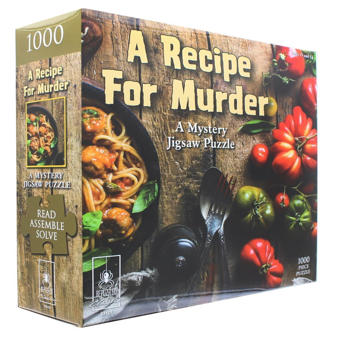 A Mystery Jigsaw Puzzle: A Recipe for Murder
