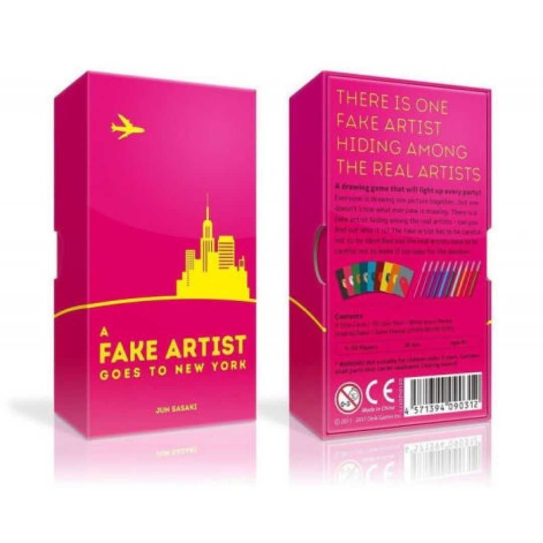 A Fake Artist Goes to New York: Tiny Box Game | Board Game Rental