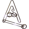 "Metal Puzzle: ""A"" Puzzle Difficulty Level 7/10"