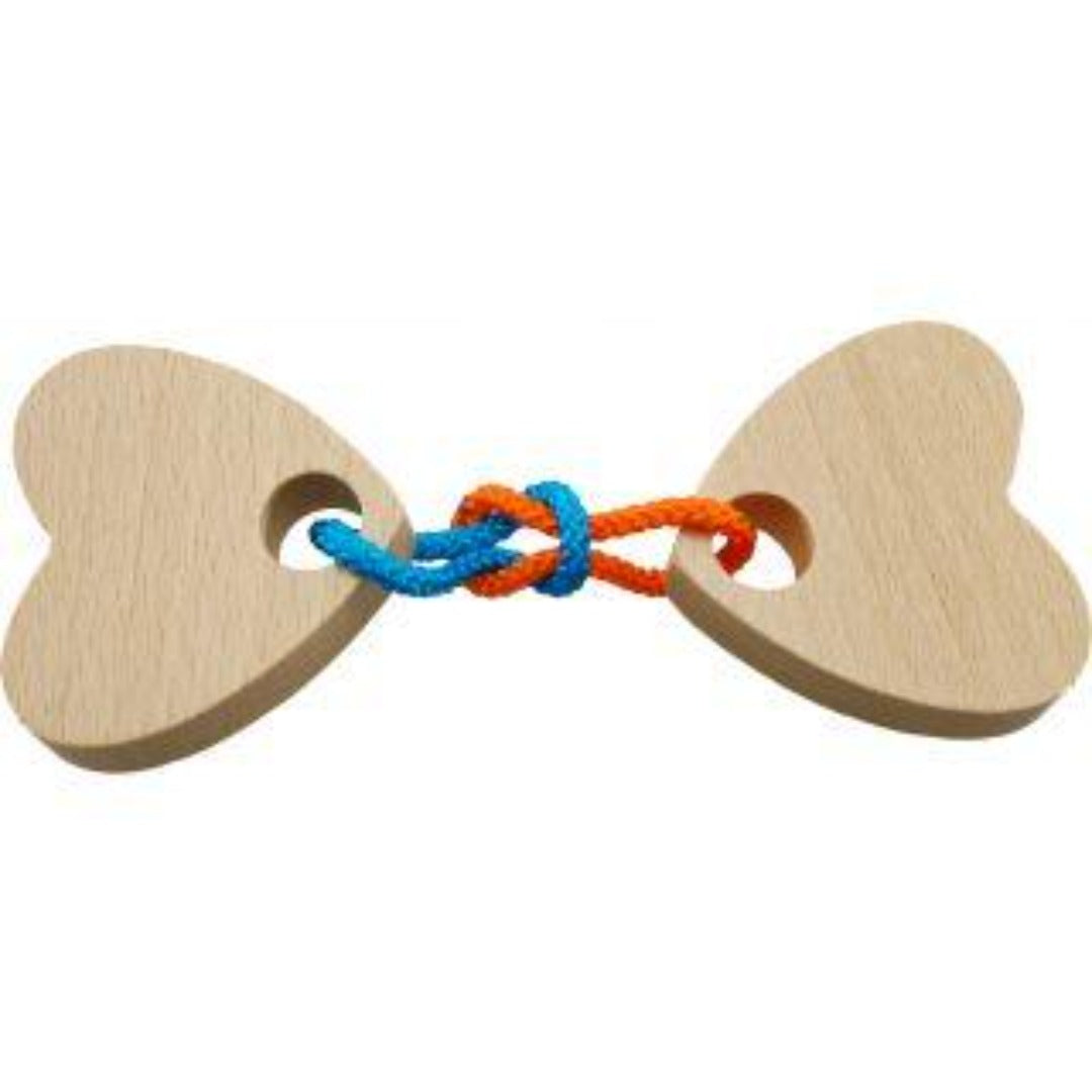 Braintwister: Two Connected Hearts Wooden Puzzle