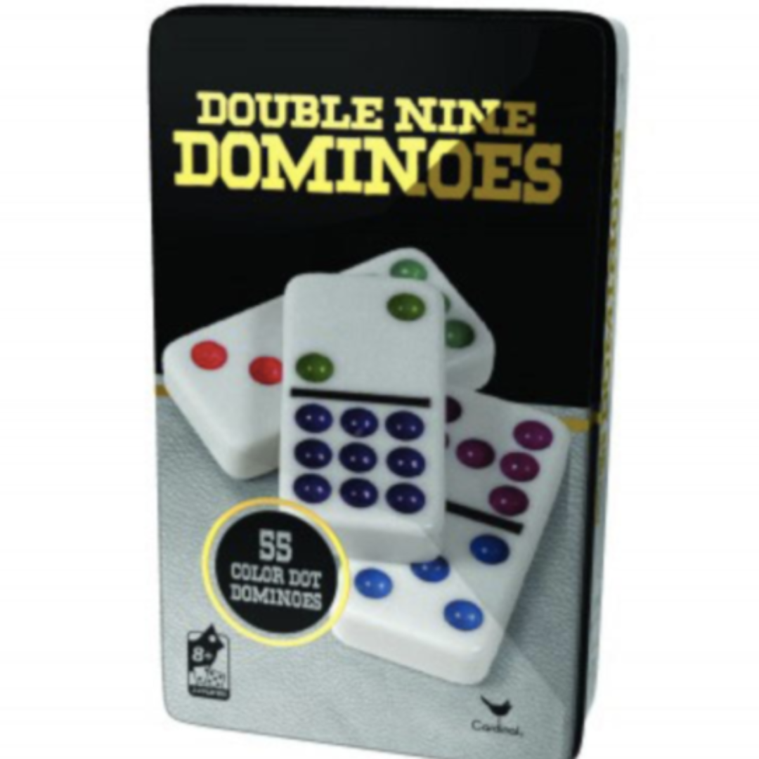 Double 9 Color Dot Dominoes